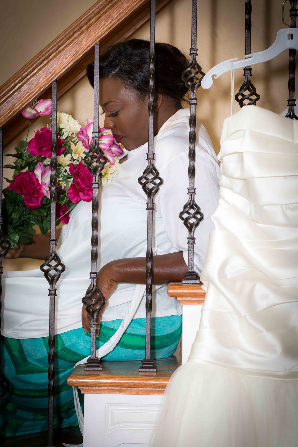 Bride before she puts on her dress