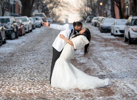 Carol & Shelton's Lavish, Wintery Wedding in Alexandria, VA