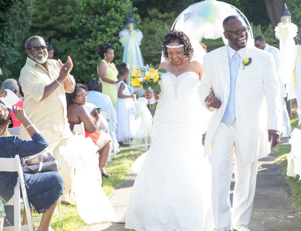 Bride and Groom leading the recessional
