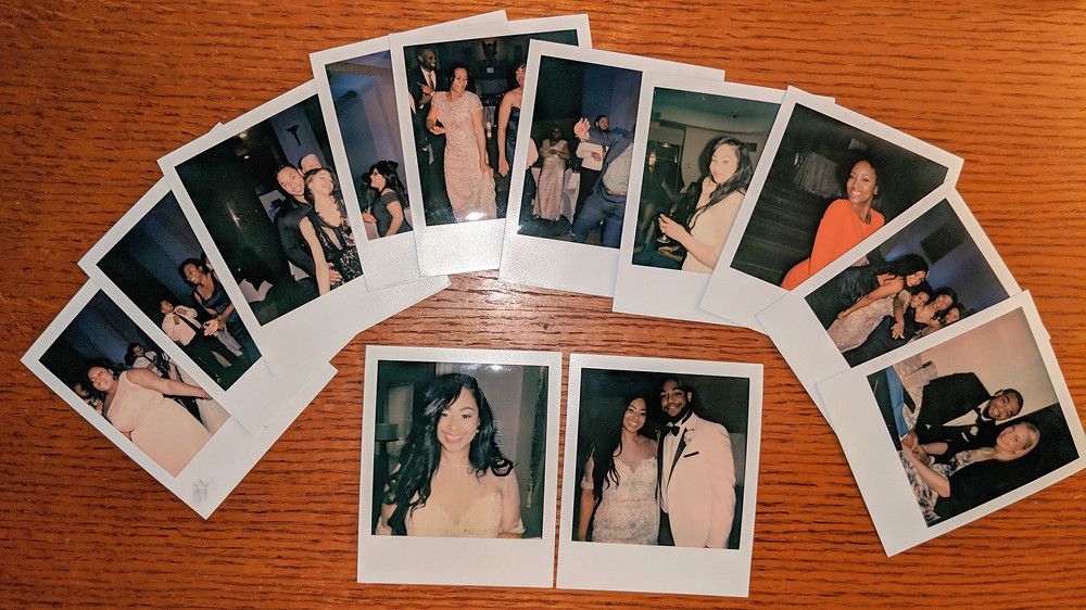 Instant Film wedding photos.