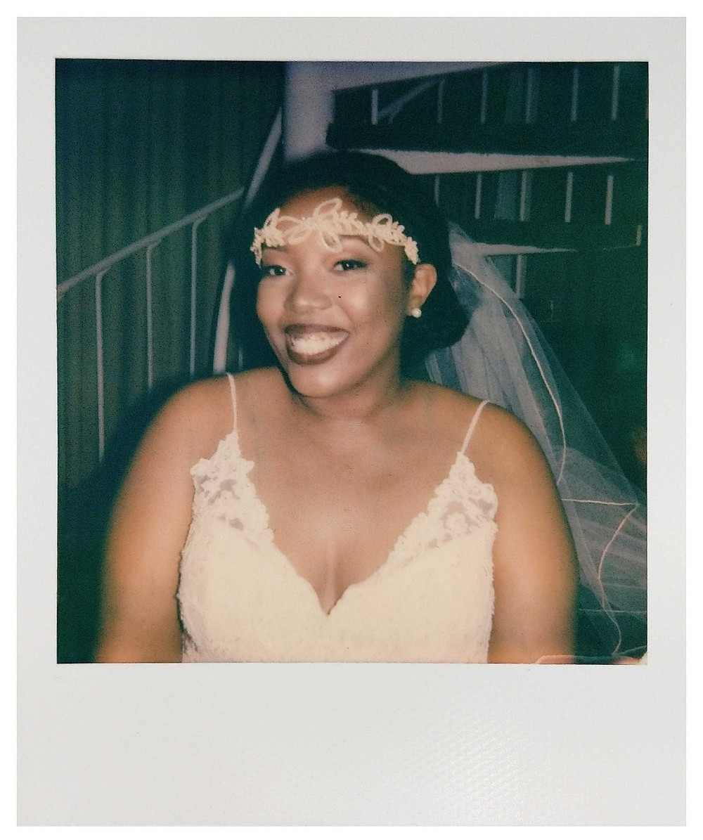 Instant Film Wedding Photo