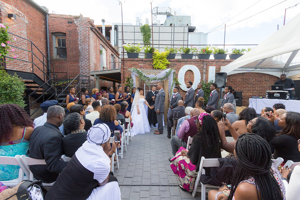 The Sellers wedding ceremony at the Gallery O on H in Washington DC.
