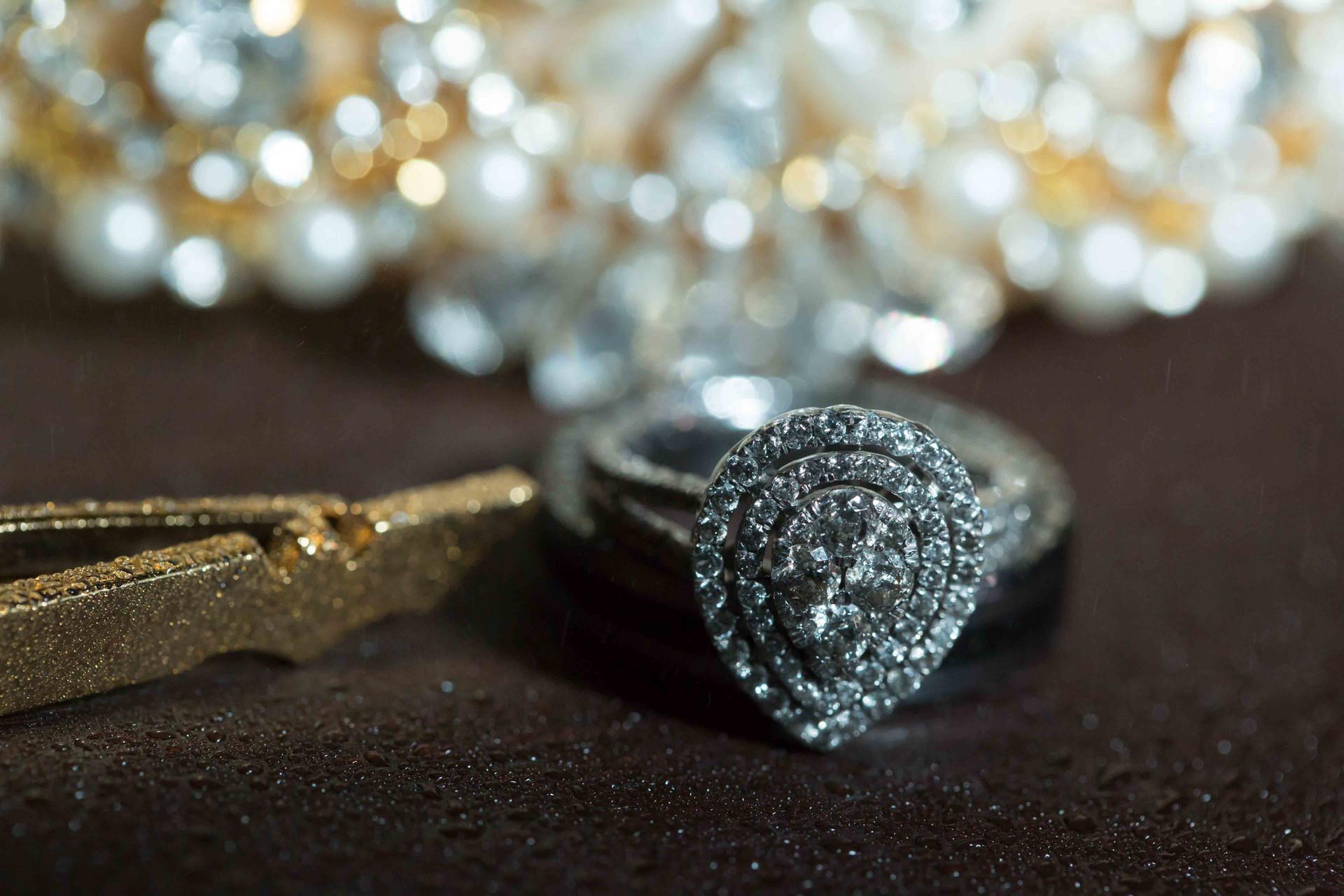 Wedding Ring and Tiebar