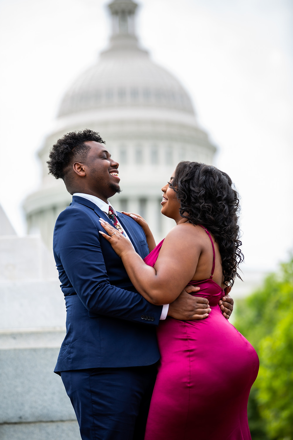 Engagement Session in front of the US Capitol Building in Washington DC