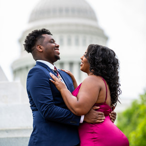 Amaris & Kenneth's Exquisite Engagement Session at the U.S. Capitol in Washington D.C.