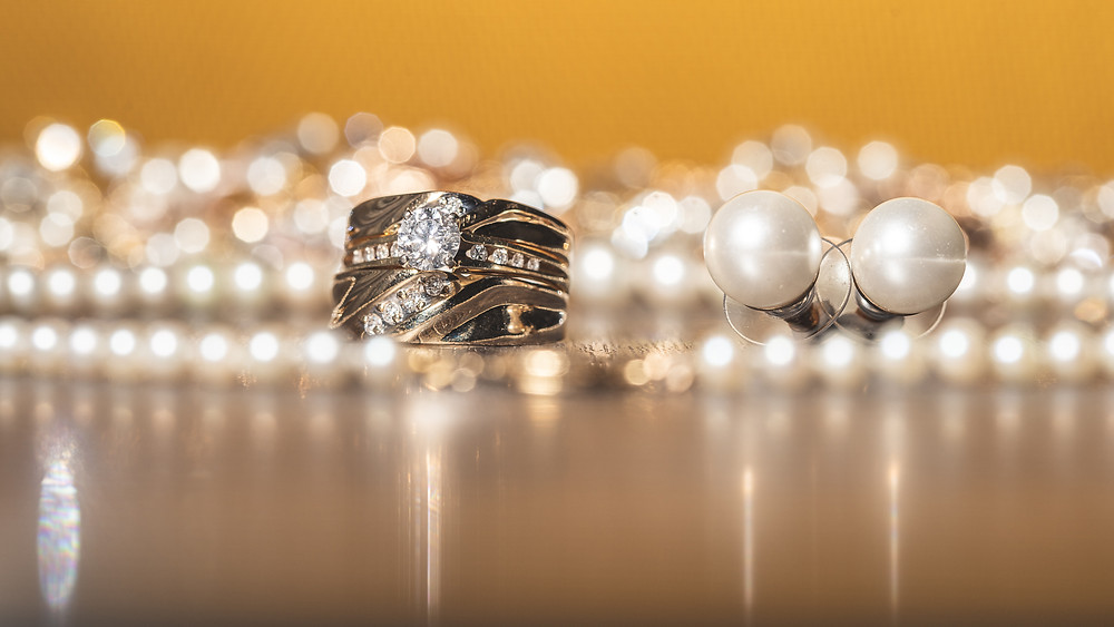 Bride and Groom's wedding bands before the wedding at Martin's Crosswinds in Greenbelt, Maryland.