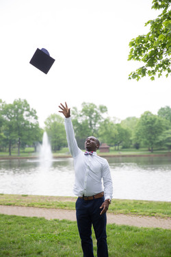 High School graduation portrait in Bowie, Maryland.