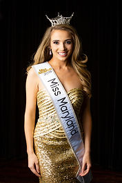 Portrait of Miss Maryland after the regional Miss USA pageant.