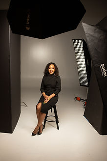 Behind the scenes portrait setup during a studio photography session at Union 206 in Alexandria, Virginia.