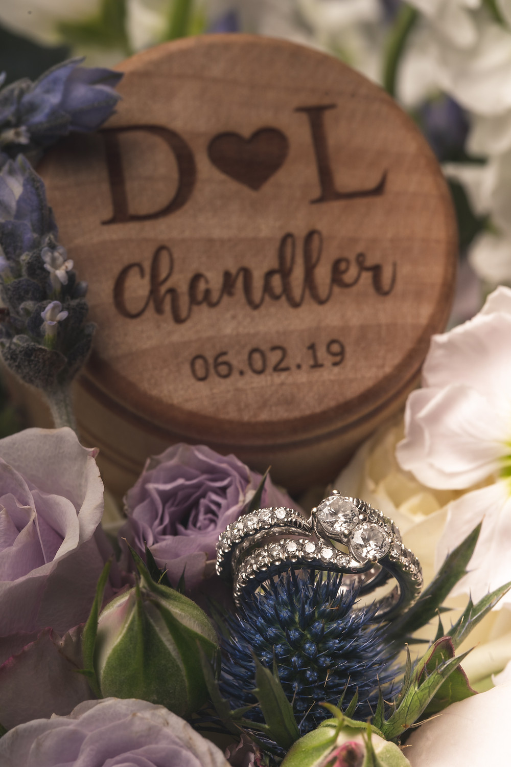 Wedding day details for the Chandler wedding at Crosskeys Vineyards in Mt. Crawford, Virginia.