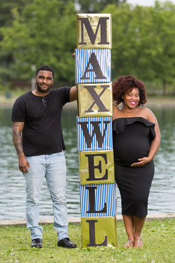 Expecting mother and father during a Maternity Photography session at Byrd Park in Richmond, Virgini