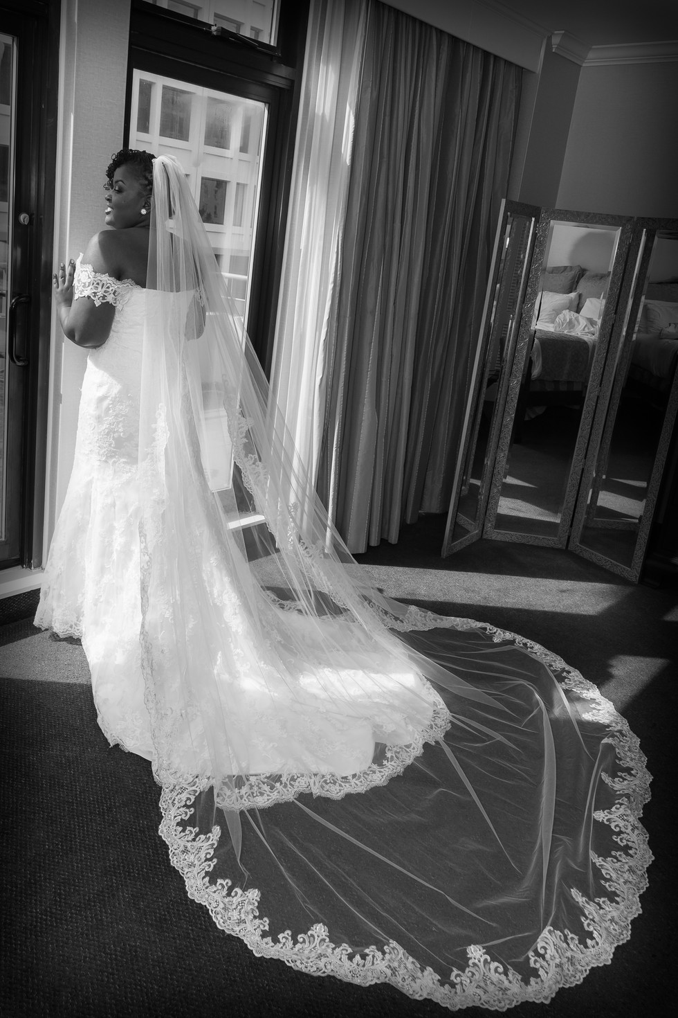 Bridal portrait after getting ready