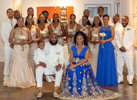 Esa & Tyrell's Sophisticated and Regal Wedding at The Ward Center for Contemporary Art in Petersburg
