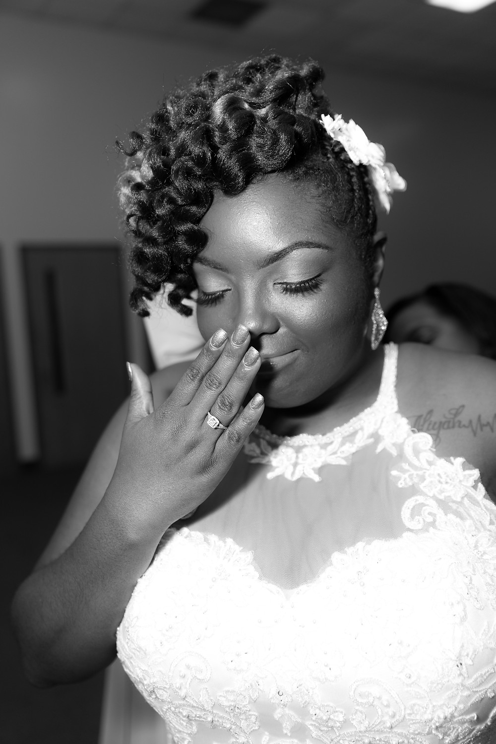 Beautiful bride before her wedding in Richmond