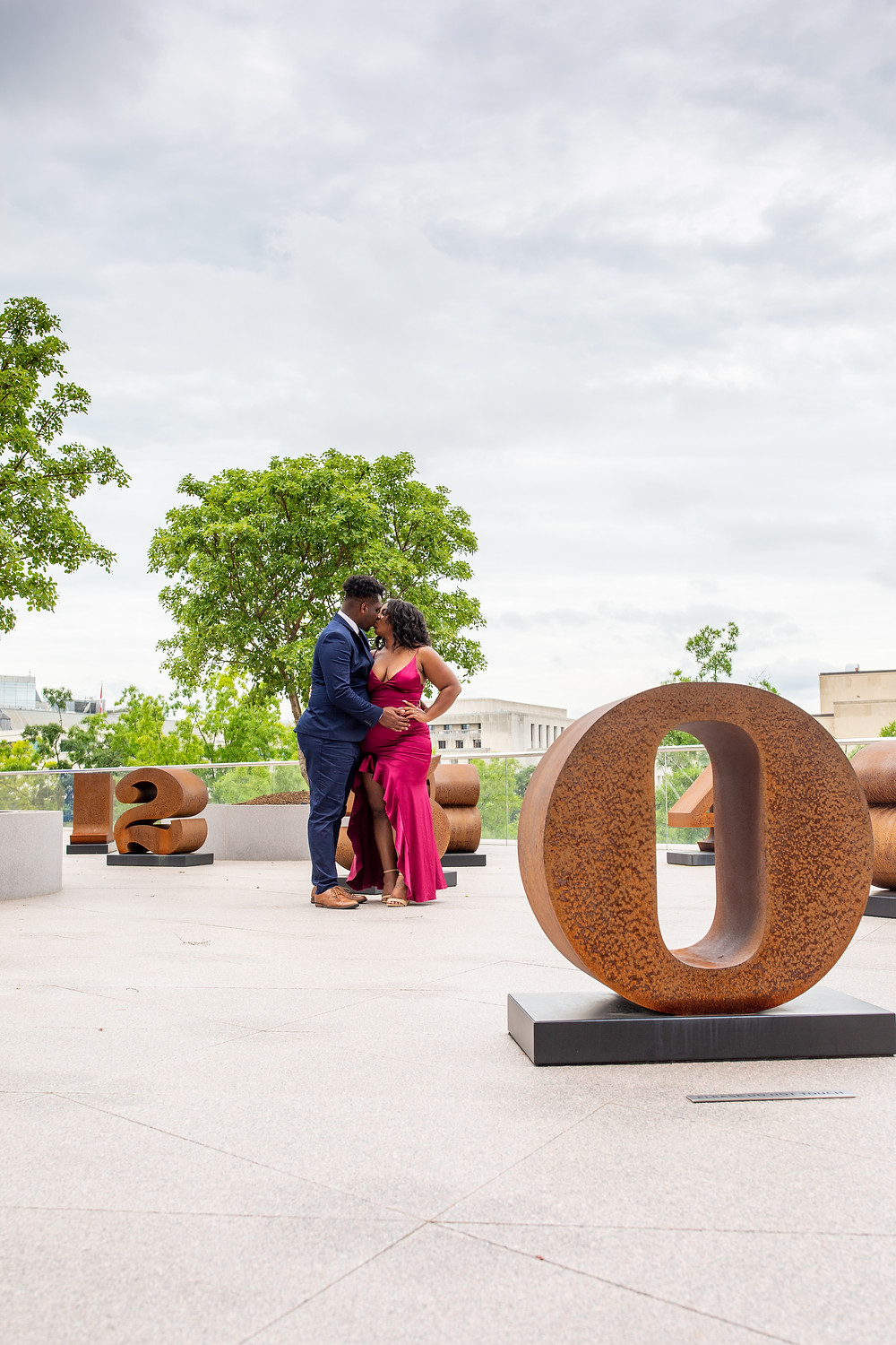 Engagement Session at the National Gallery of Art in Washington DC