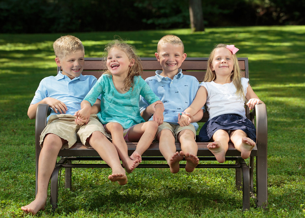 Kids during a family portrait photography session.