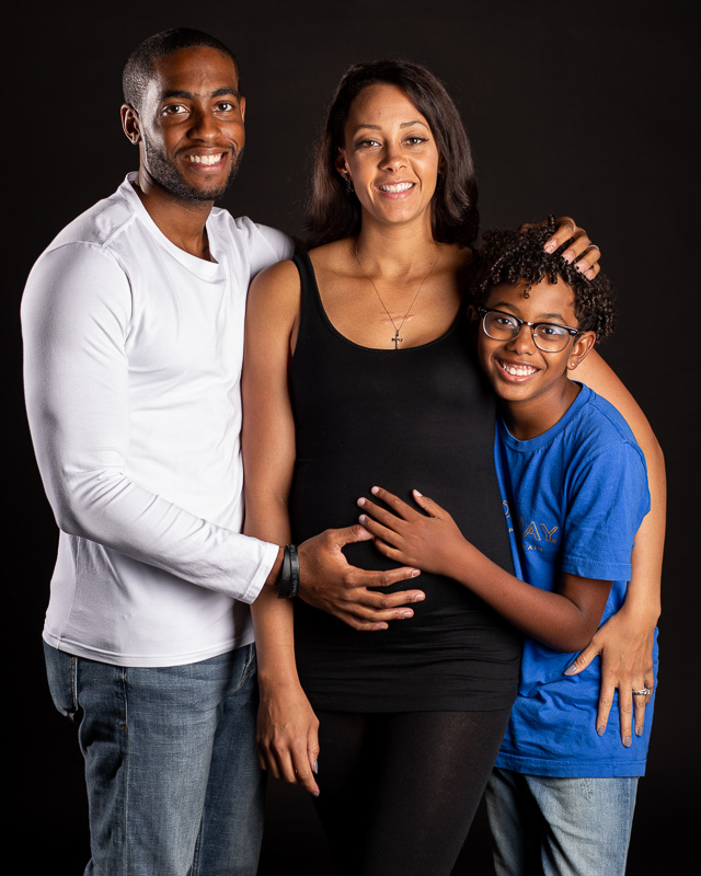 Family portrait session in the studio at Union 206 in Alexandria, Virginia.
