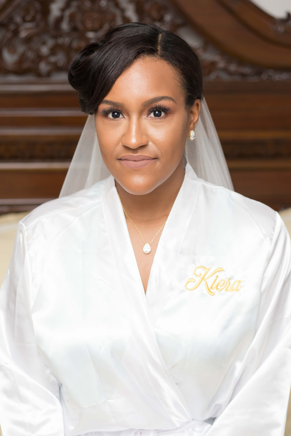 Bridal portrait after hair and makeup