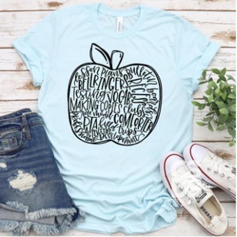 Apple Word Art