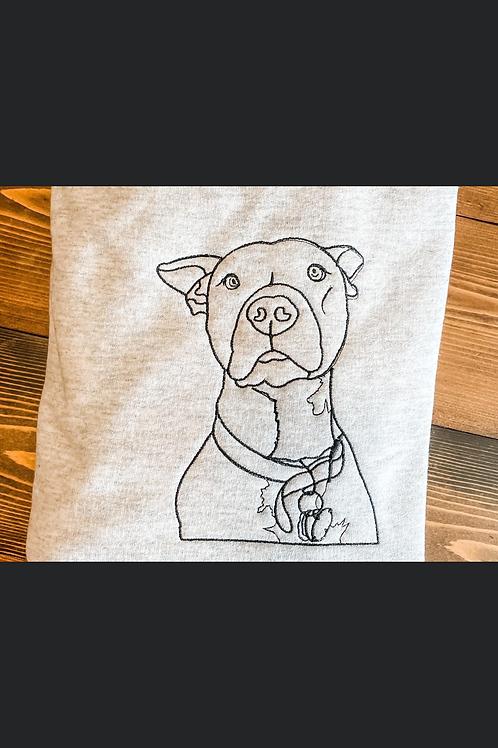 Custom Pet Portrait Outline