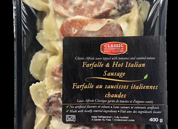 Farfalle with Hot Italian Sausage