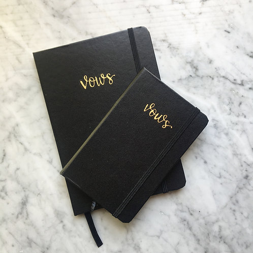 Leather Vow Booklet - Large