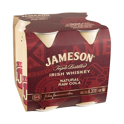 Jameson 6.3%  Raw & Cola 4Pk Cans
