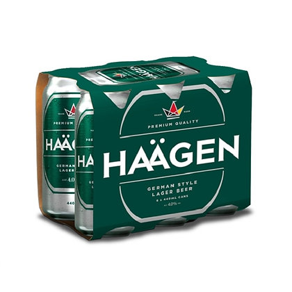 Haagen  6x 440Ml Cans