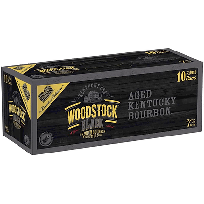 Woodstock Black 10x330Ml Cans