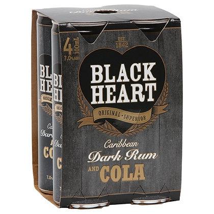 Black Hart 7% 4x300Ml Cans