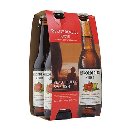REKORDERLIG KOCKTAIL STRAWBERRY LIME 4X330ML bOTTLES
