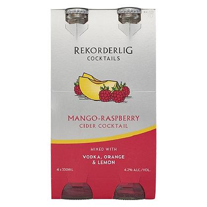 Rekorderling Mango-Raspberry Cocktail  4x330Ml Bottles