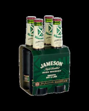 JAMESON WHISKEY DRY LIME  4PK bOTTLES