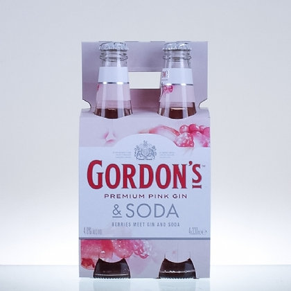 Gordons Pink Gin and Soda 4x330Ml Bottles