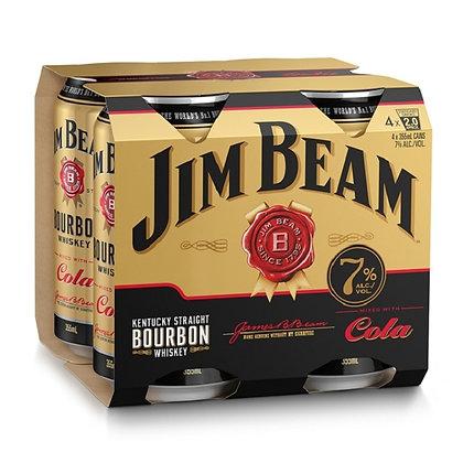 JIM BEAM GOLD 4X355ML CANS