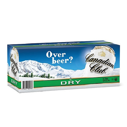Canadian Club Dry 10x330Ml Cans