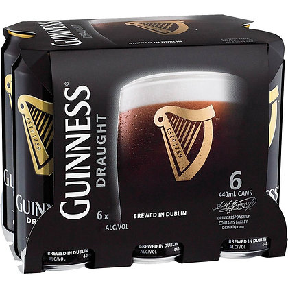 GUINNESS DRAUGHT 6X440ML CANS