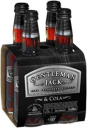 Gentleman Jack Cola 4x330Ml Bottles