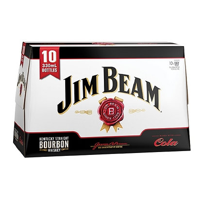Jim Beam 10x330Ml Bottles