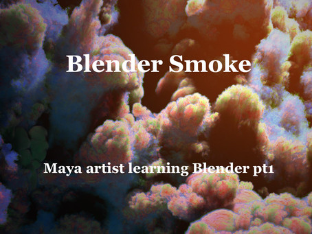 Maya artist learning Blender 2.8 pt1