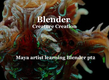 Maya artist learning Blender 2.8 pt2