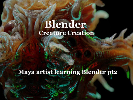 Maya artist learning Blender 2.8 pt2