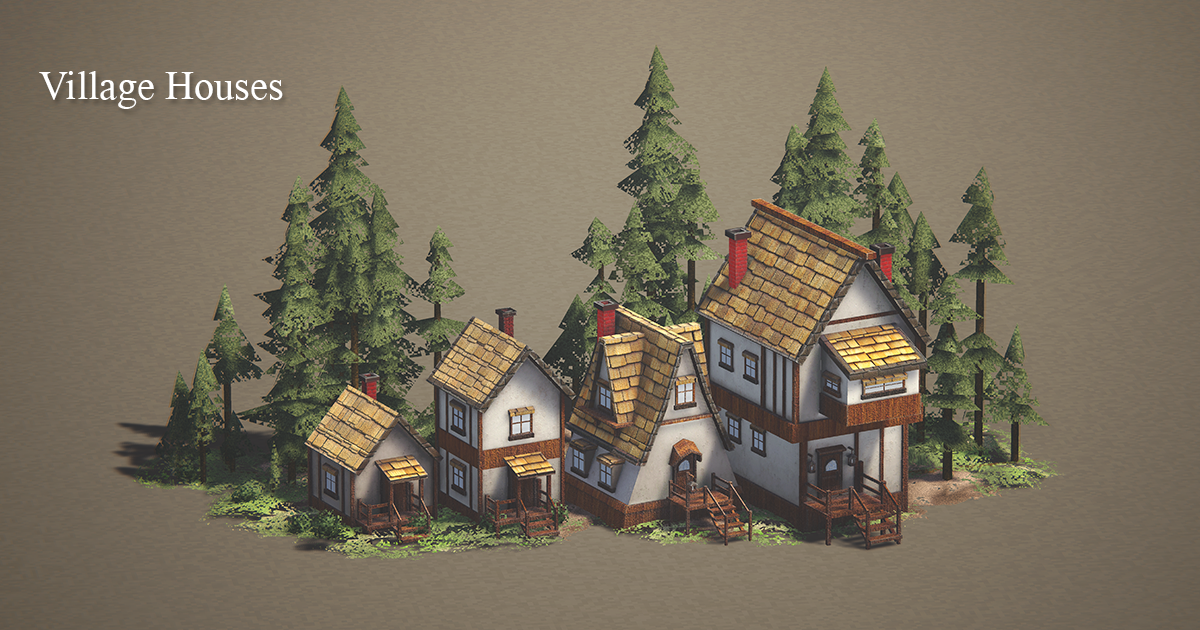 Village houses Real Time Asset