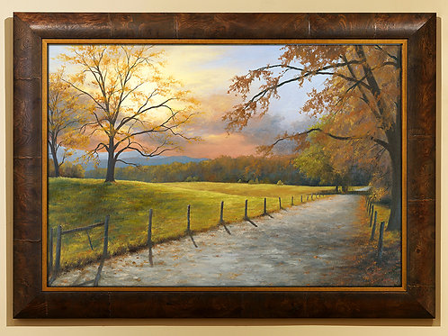 Extra Large Cades Cove Sunset Framed
