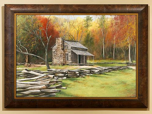 Extra Large John Oliver Cabin Framed