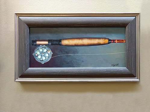 ROD AND REEL FRAMED