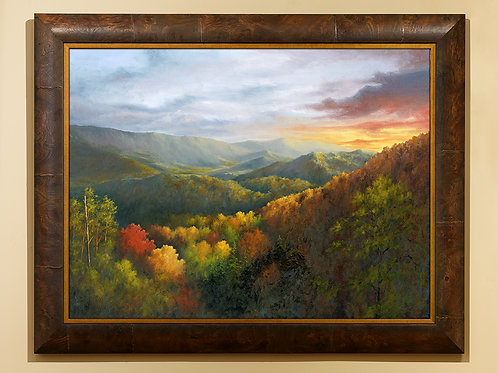 Extra Large Foothills Sunset Framed