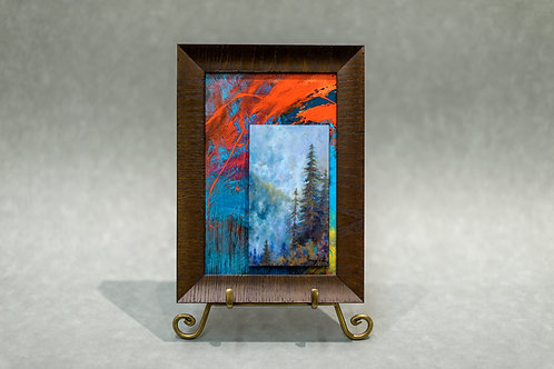 Framed Contemporary Abstract Landscape