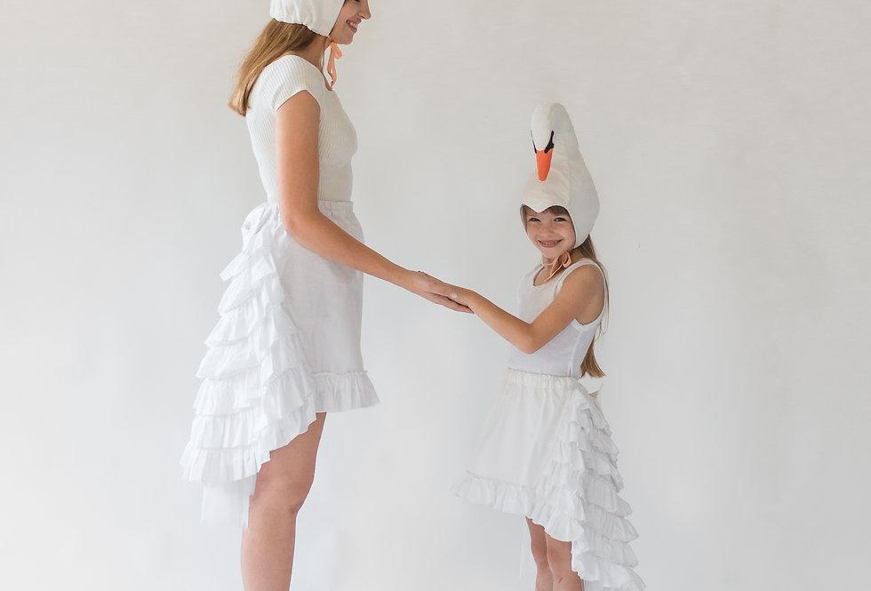 תחפושת זוגית - אמא ובת - ברבור לבן