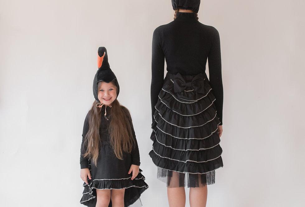 תחפושת זוגית - אמא ובת- ברבור שחור